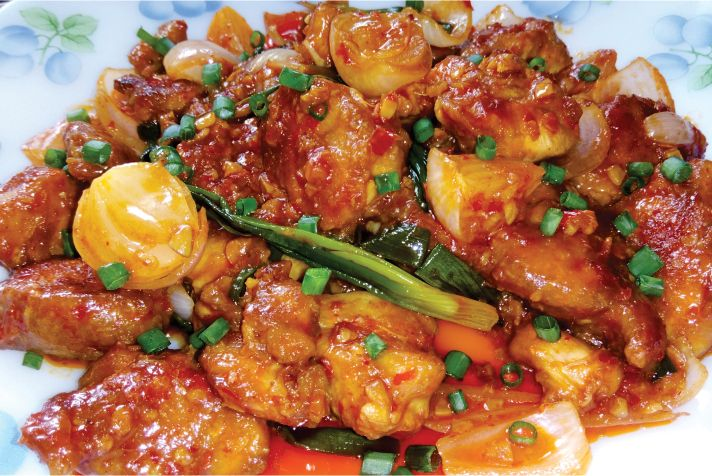 Chicken in Schezwan Sauce